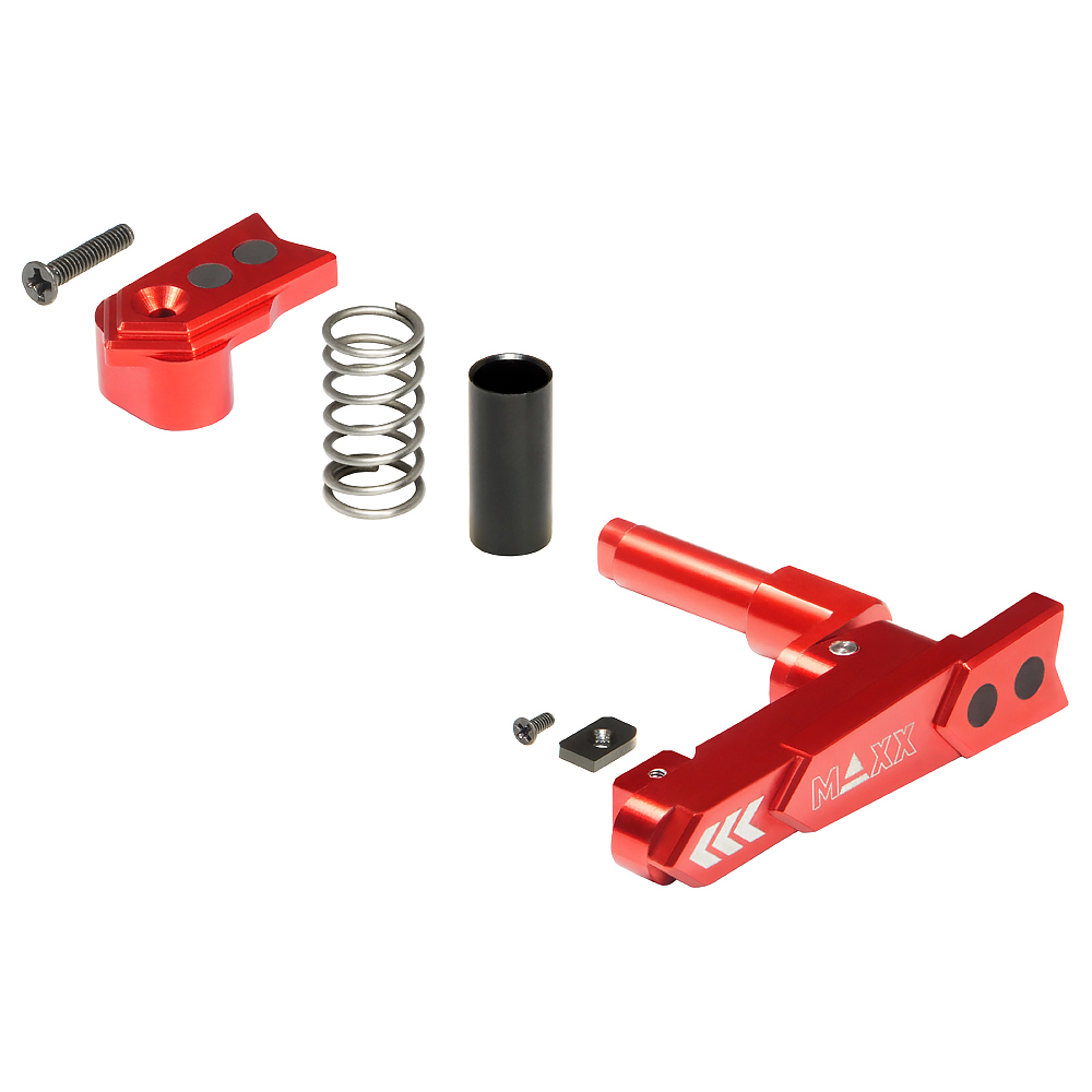 CNC Aluminum Advanced Magazine Release (Style A) (Red)