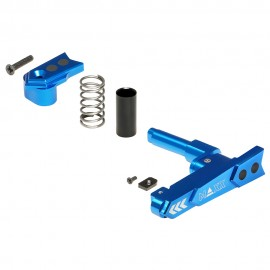 CNC Aluminum Advanced Magazine Release (Style A) (Blue)
