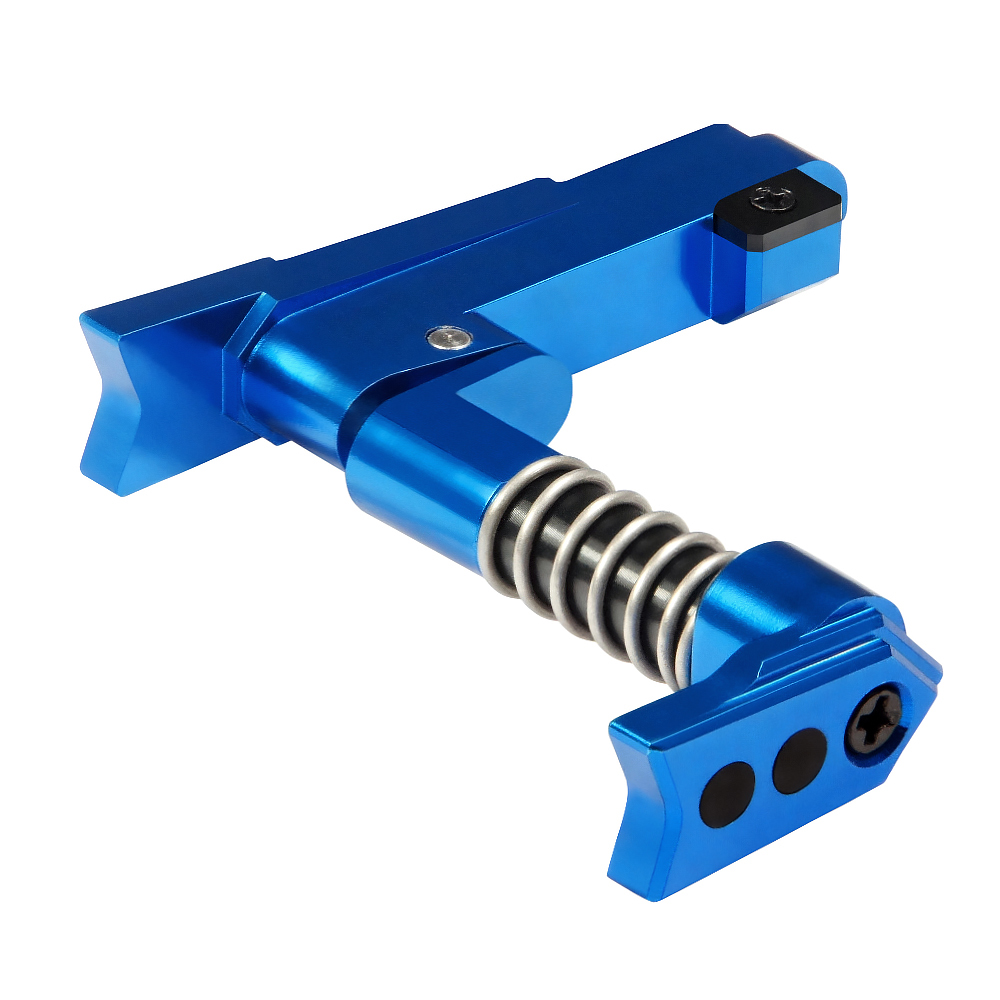 CNC Aluminum Advanced Magazine Release (Style A) (Blue)