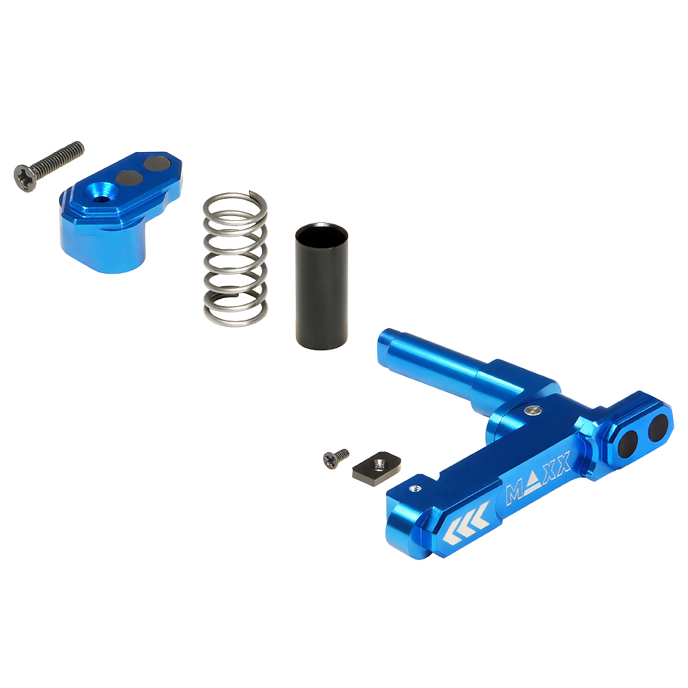 CNC Aluminum Advanced Magazine Release (Style B) (Blue)