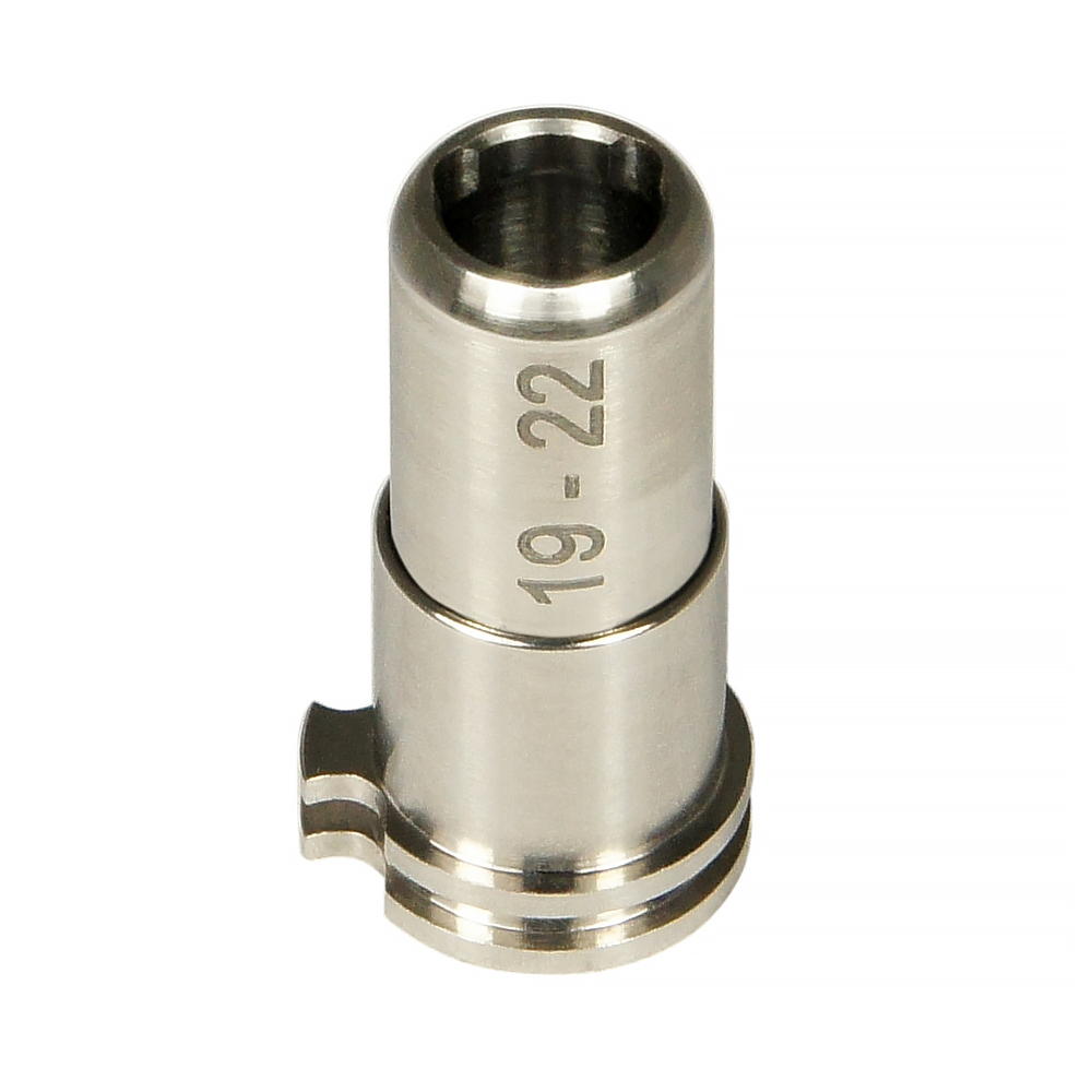 CNC Titanium Adjustable Air Seal Nozzle 19mm - 22mm for Airsoft AEG Series