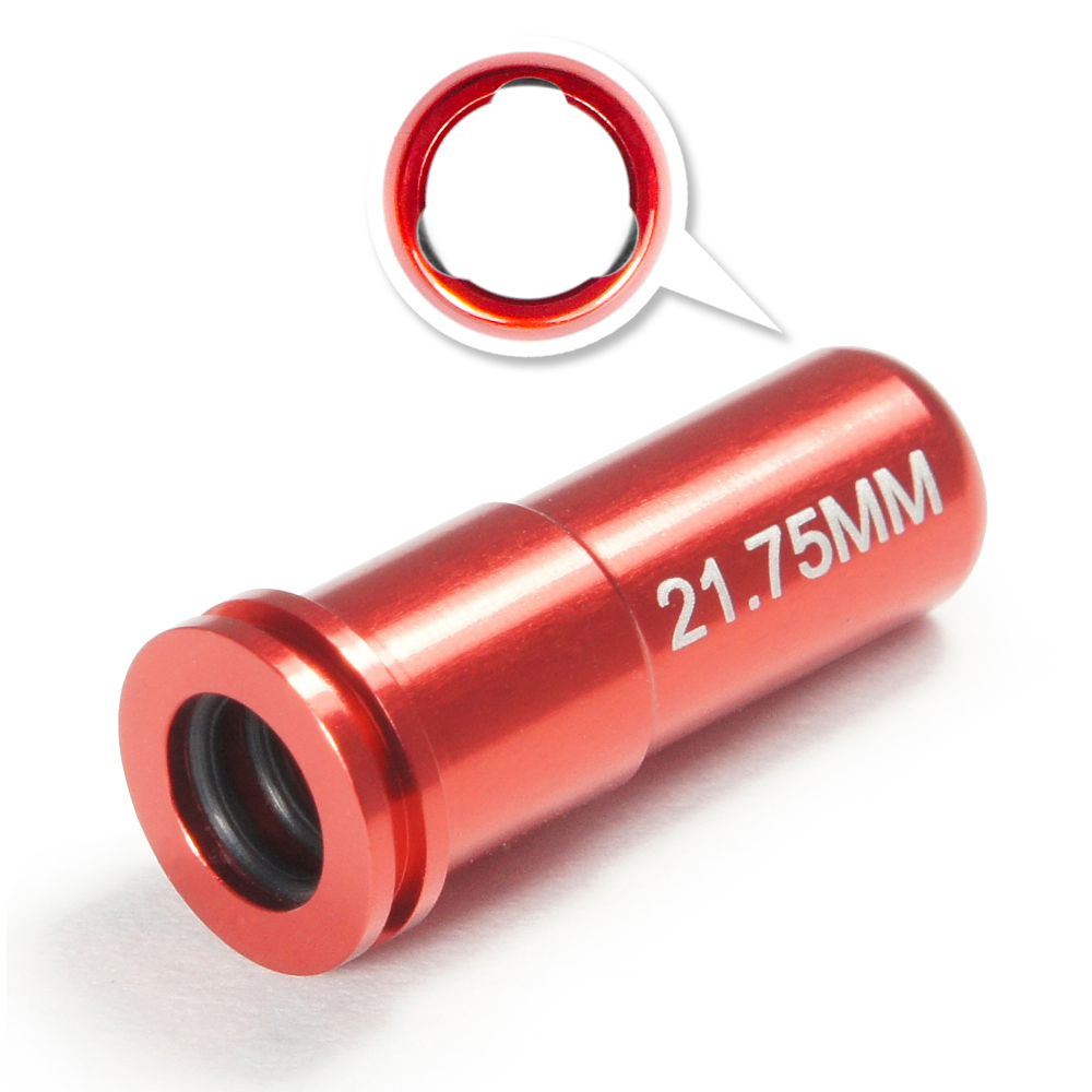 CNC Aluminum Double O-Ring  Air Seal Nozzle (21.75mm) for Airsoft AEG Series