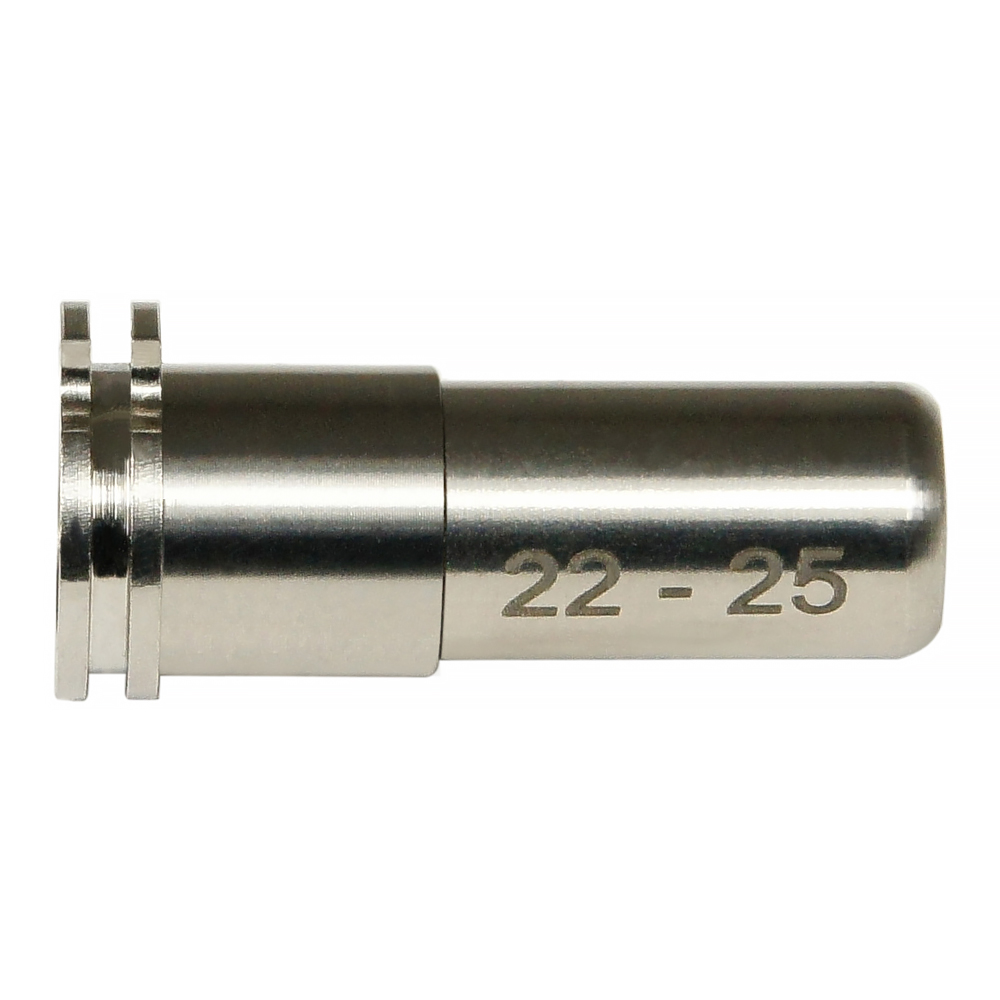CNC Titanium Adjustable Air Seal Nozzle 22mm - 25mm for Airsoft AEG Series