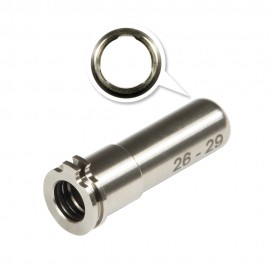 CNC Titanium Adjustable Air Seal Nozzle 26mm - 29mm for Airsoft AEG Series