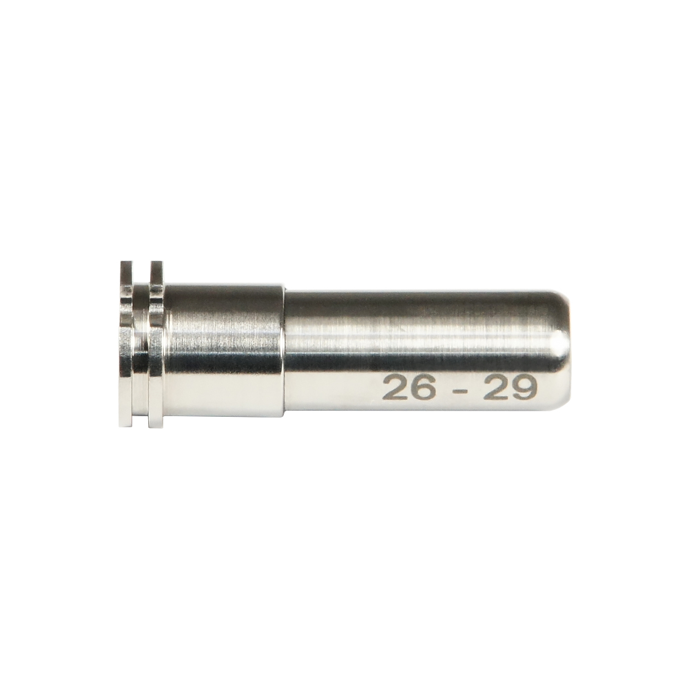 CNC Titanium Adjustable Air Seal Nozzle 26mm - 29mm for Airsoft AEG Series