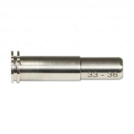 CNC Titanium Adjustable Air Seal Nozzle 33mm - 36mm for Airsoft AEG Series