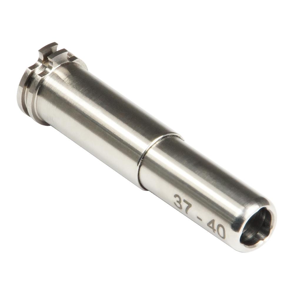 CNC Titanium Adjustable Air Seal Nozzle 37mm - 40mm for Airsoft AEG Series
