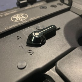 CNC Aluminum Low Profile Selector Lever (Style A) (Black) - VFC SCAR-L/H