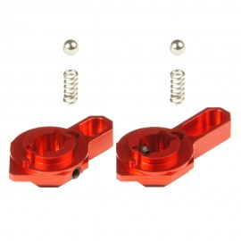 CNC Aluminum Low Profile Selector Lever (Style B) (Red) - VFC SCAR-L/H