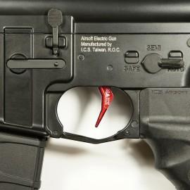 CNC Aluminum Advanced Trigger (Style B) (Red)
