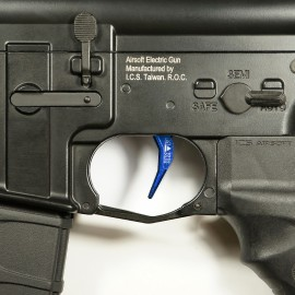 CNC Aluminum Advanced Trigger (Style C) (Blue)