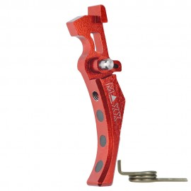 CNC Aluminum Advanced Trigger (Style D) (Red)