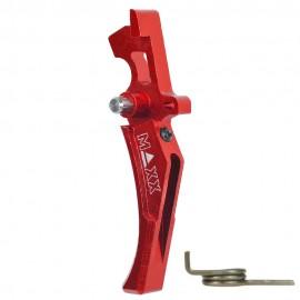 CNC Aluminum Advanced Trigger (Style D) (Red)