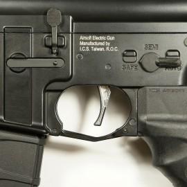 CNC Aluminum Advanced Trigger (Style D) (Silver)