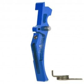 CNC Aluminum Advanced Trigger (Style D) (Blue)