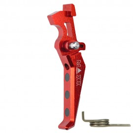 CNC Aluminum Advanced Trigger (Style E) (Red)