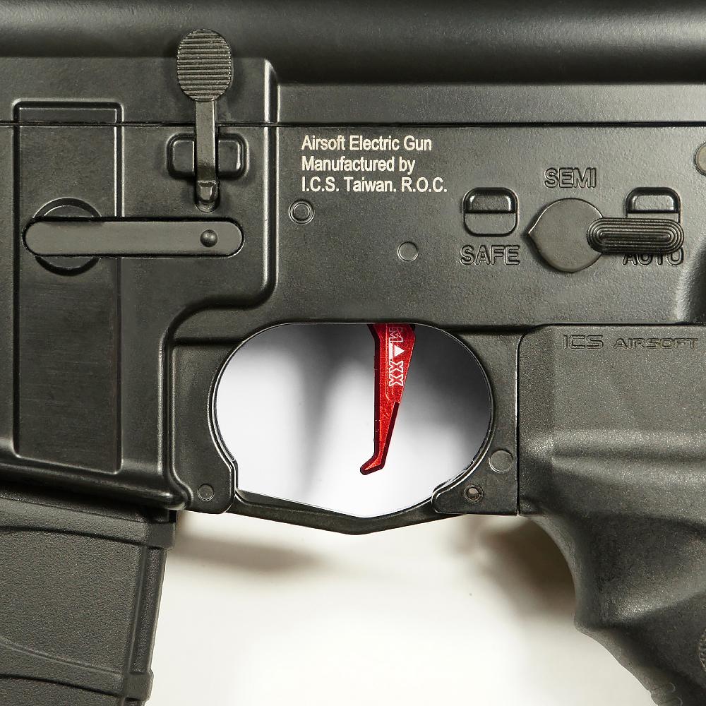 CNC Aluminum Advanced Trigger (Style E) (Red)