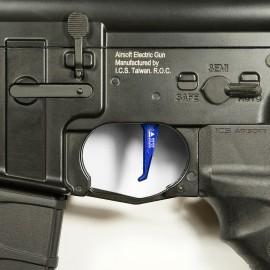 CNC Aluminum Advanced Trigger (Style E) (Blue)